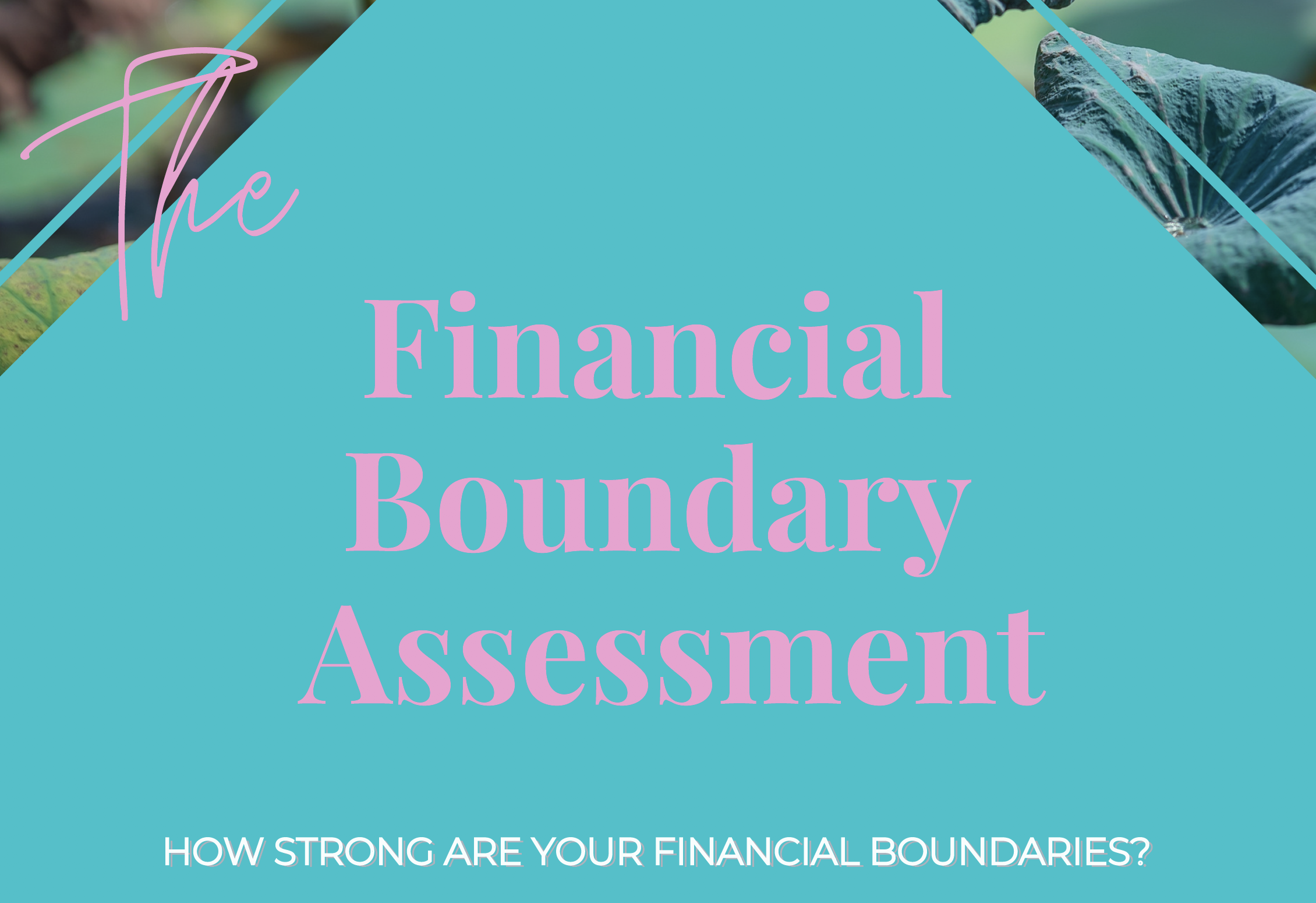 "How strong are your financial boundaries? Take the ""Financial Boundary Assessment"" to find out!"